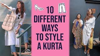 10 Different Ways to Style One Kurta कुर्ता | Sejal Kumar | #1MillionWeek