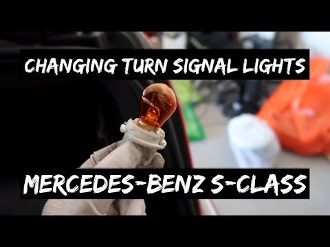 How to Change Mercedes-Benz S-Class Turn Signal Lights (W220)