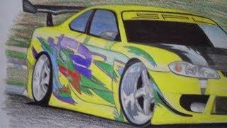 desenhos de carros thalles 3 edição (drawing car)