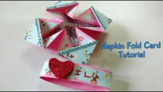 Napkin Fold LOVE Card Tutorial For Scrapbook | How To | Craftlas