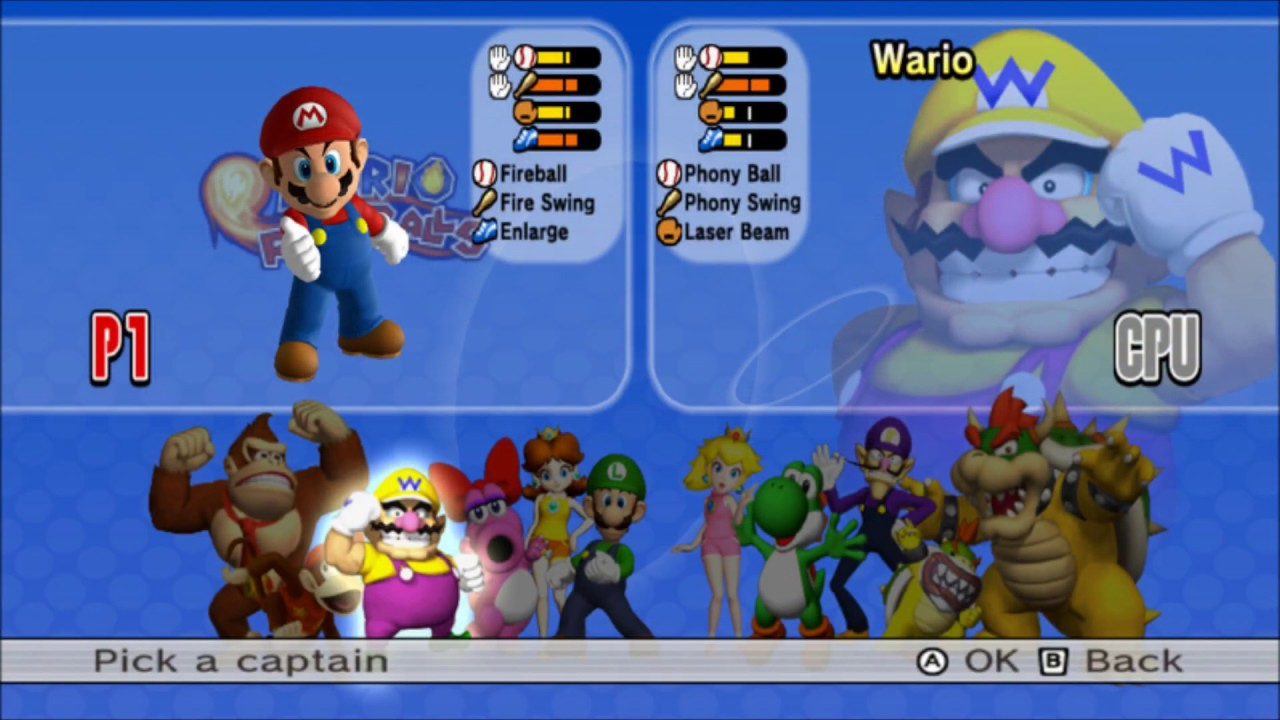 Mario Super Sluggers Music - Character Selection Extended