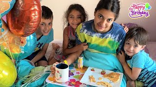 Happy Birthday Morning Routine with HZHtube Kids Fun