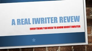 Iwriter- Iwriter Review Reveals If You Can Really Get Quality …