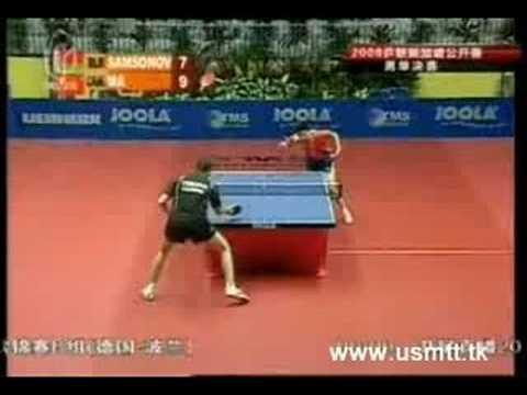 Ma Long vs Samsonov Singapore Open final