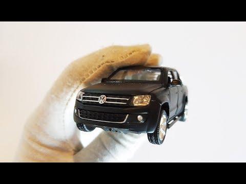 Про Машинки Игрушки. Моделька машины пикап Volkswagen Amarok распаковка и обзор. Масштаб 1/43.