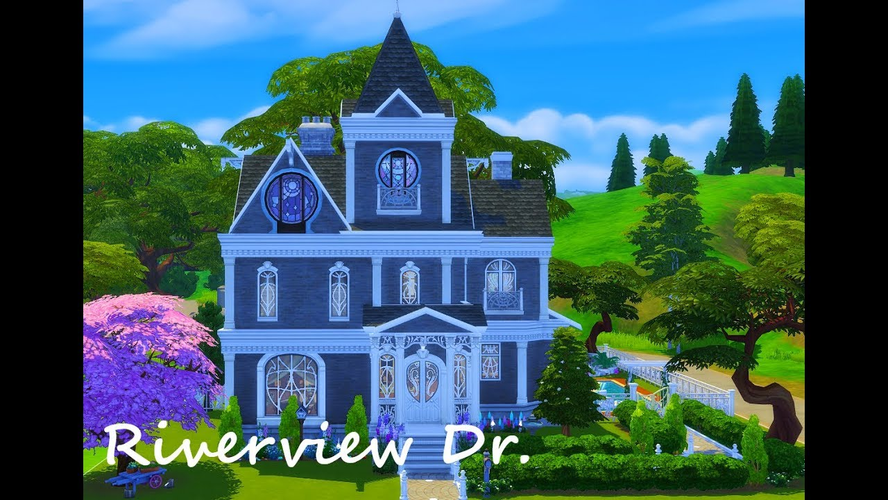Riverview Dr// The Sims 4// Speed build// Lets talk about my channel and ROM