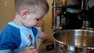 Jonah Making Puffed Wheat Squares..
