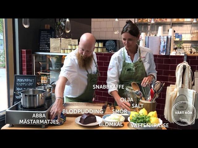 Inspireras med Vårt Kök: Mästarmatjes med blodpudding, blomkålspuré och kaffe