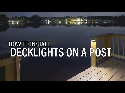 how to install a deck light on a post