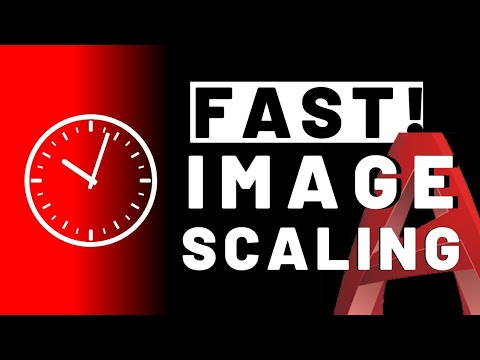 How to Scale Image in Autocad to Trace with Automatic Align Autocad