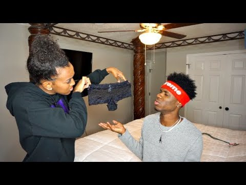 FOUND ANOTHER GIRL'S PANTIES PRANK ON BOYFRIEND!!! thumbnail
