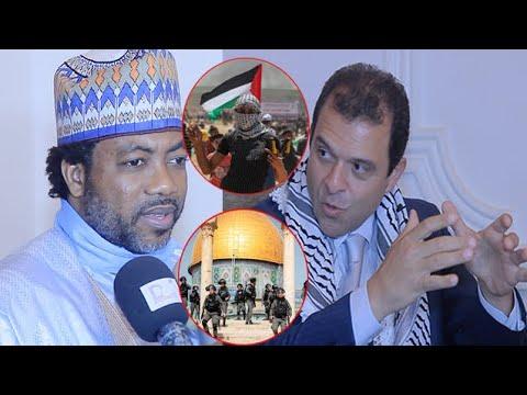 Le poignant discours de soutien et paix de Sheikh Alassane Séne SHASTY à l'ambassade de la Palestine