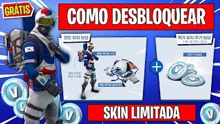 HOW TO EARN FREE V-BUCKS AND UNLOCK THE ALPINE ACE (KOR) SKIN AT FORTNITE-FULL METHOD
