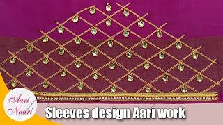 Download Sleeves design aari work | Maggam work on sleeves | hand embroidery designs for sleeves Mp3 and Videos