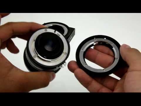 How to mount and remove a Fotodiox Pro Nikon lens to Canon EOS body lens mount adapter