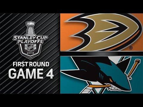 Anaheim Ducks vs San Jose Sharks – Apr. 18, 2018 | Game 4 | Stanley Cup 2018. Обзор