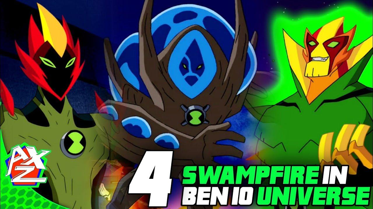 Top 4 Swampfire / Methanosian In Ben 10 Universe ||