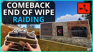 The Comeback End Of Wipe Solo RAIDING! Rust Solo Survival Gameplay