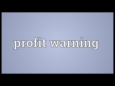 Profit warning Meaning