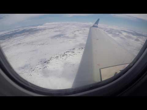 Flug mit SAS über Kopenhagen nach Trondheim