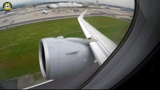 UNBELIEVEABLE silence! HUGE A320neo P&W engine POWERFUL takeoff! [AirClips]