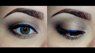 видео Вечерний макияж для зеленых глаз и синего платья