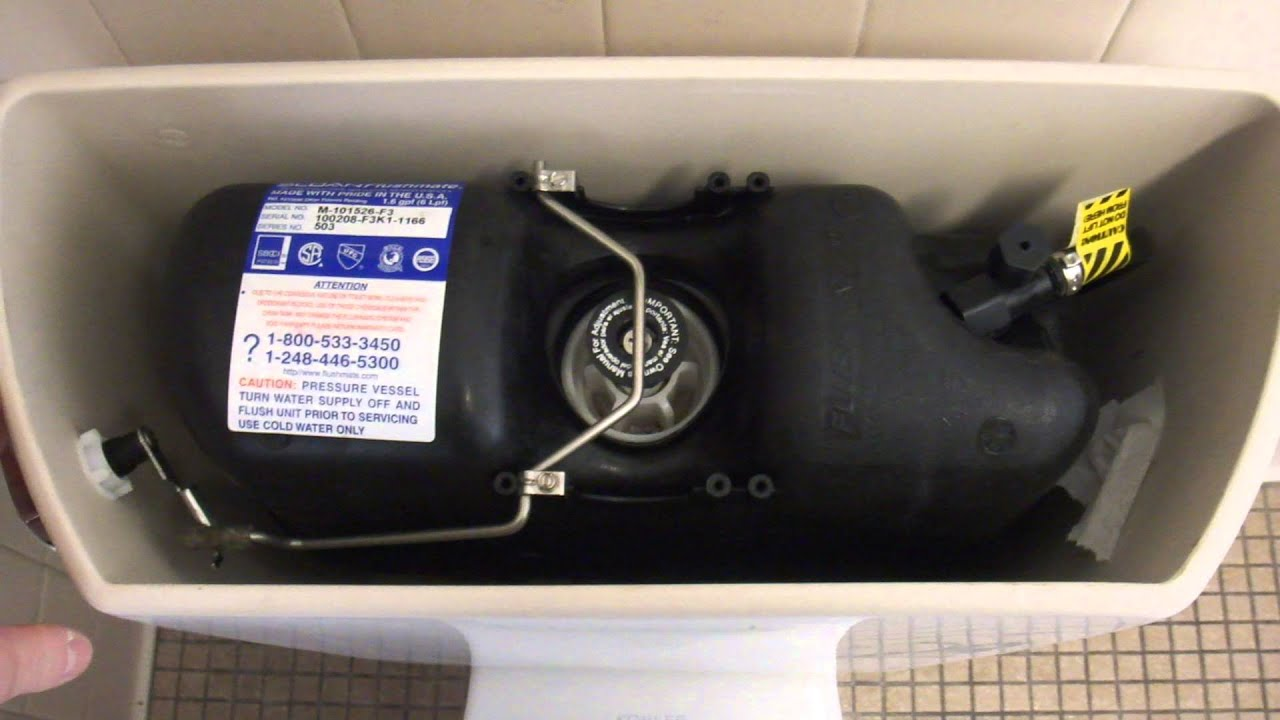 123 A Kohler Toilet With A Sloan Flushmate Installed