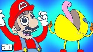 ► Марио и Пак-Мен обсуждают тёлочек ◄ Mario and Pac-Man Discuss 'The Ladies' (дубляж от Риськи)