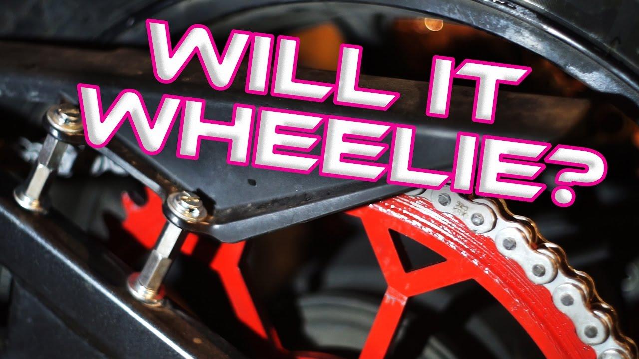 Triple Handbrake Big Sprocket Stunt Bike Build Part 3 Youtube