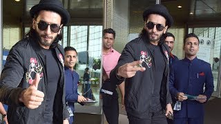 SPOTTED: Ranveer Singh at Mumbai International Airport | SpotboyE