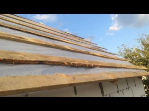 Как сделать крышу на садовом домике своими руками