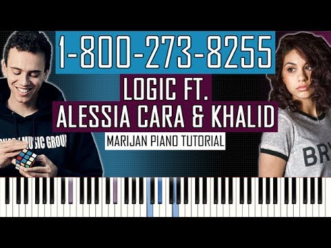 How To Play: Logic - 1-800-273-8255 ft. Alessia Cara & Khalid | Piano Tutorial