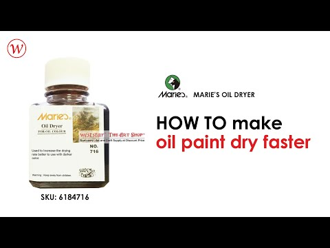 HOW TO make oil paint dry faster | Marie's Oil Dryer