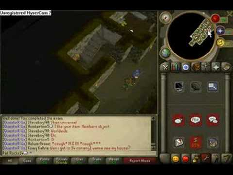 Runescape-How To Get 10K Cash Safety Gloves And 2 Exp Lamps!