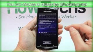 How to Master Reset Sony Ericsson Xperia arc