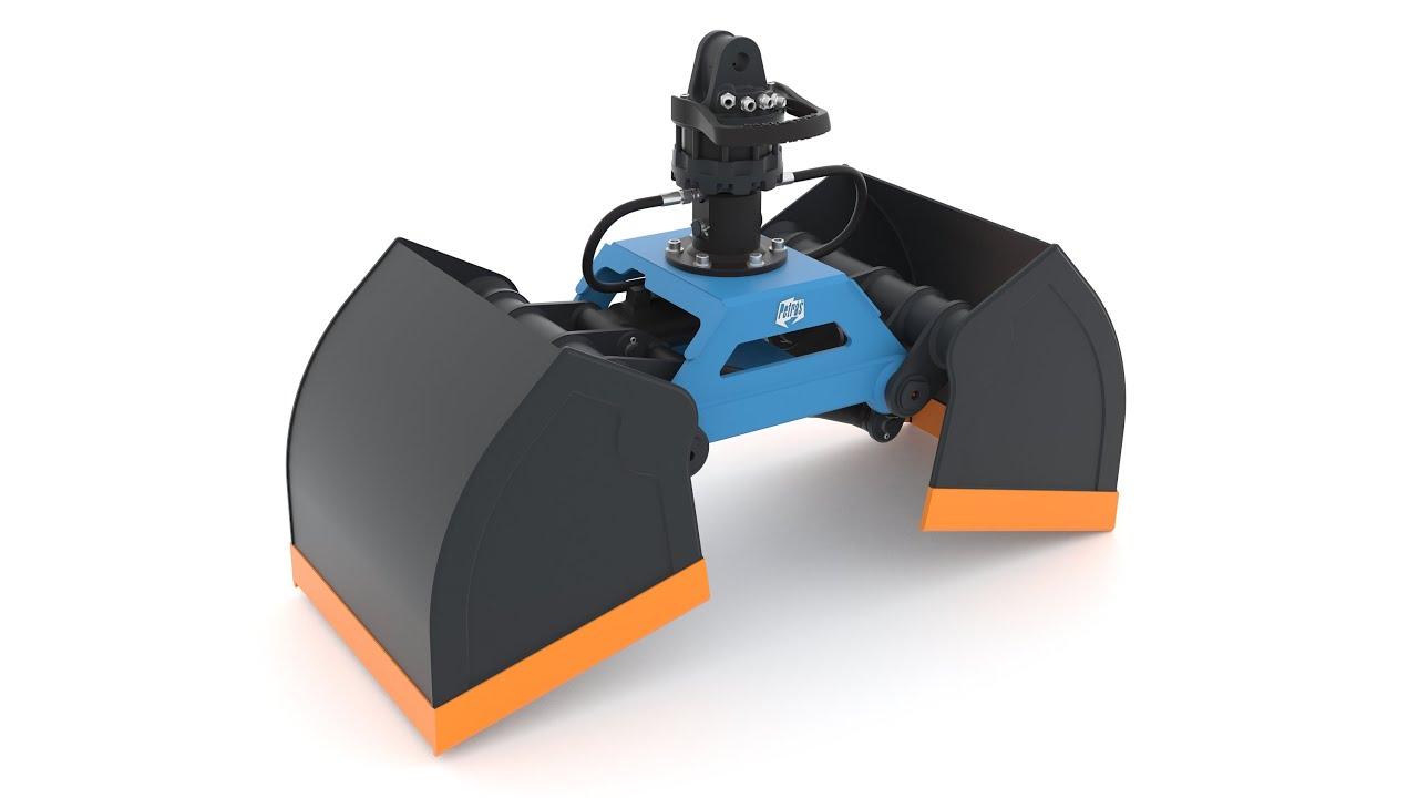 hydraulic grabs - bucket grab - Orange peel grab