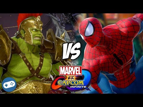 Hulk VS Spider-Man Marvel vs Capcom Infinite Gameplay - 동영상