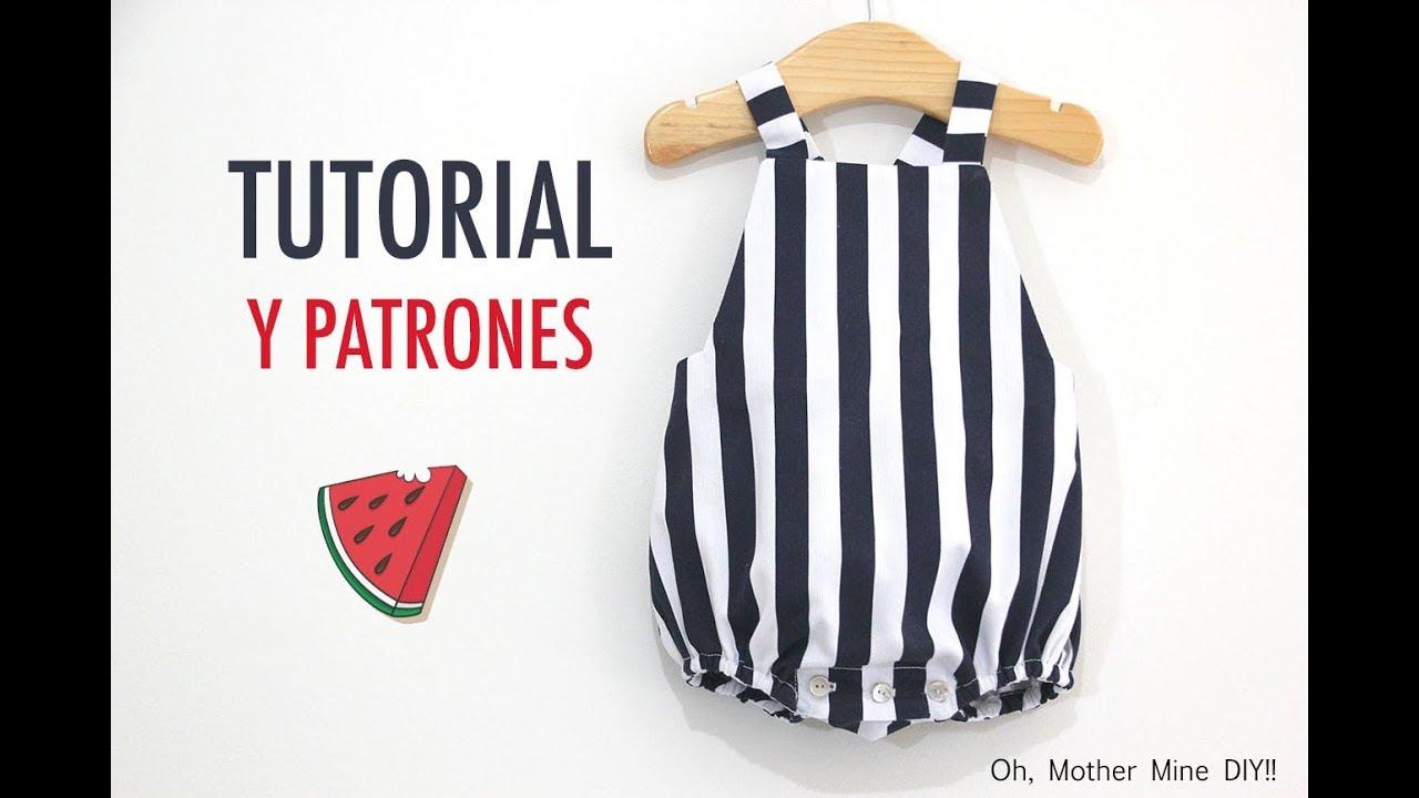 DIY Coser Peto Marinero para bebe (patrones gratis) - YouTube