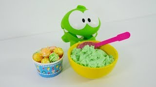 A healthy breakfast for Om Nom. Kids' video for babies.