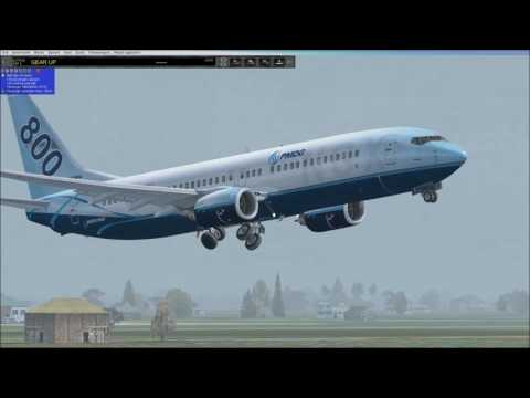 FSX World tour 30th step  from Mandalay to Bangkok landing under storm