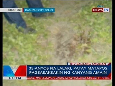 35-anyos na lalaki, patay matapos pagsasaksakin ng kanyang amain