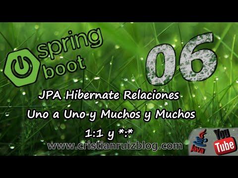 Spring Boot -06- JPA Relaciones de uno a uno y de muchos a muchos