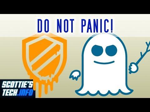 Meltdown & Spectre: DO NOT PANIC!