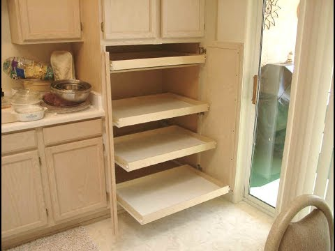 Pantry With The Pull Out Shelves Youtube