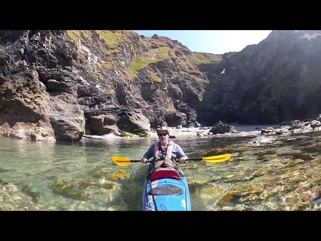 Sea Kayaking Cornwall 2013 - Godrevy Island and back.