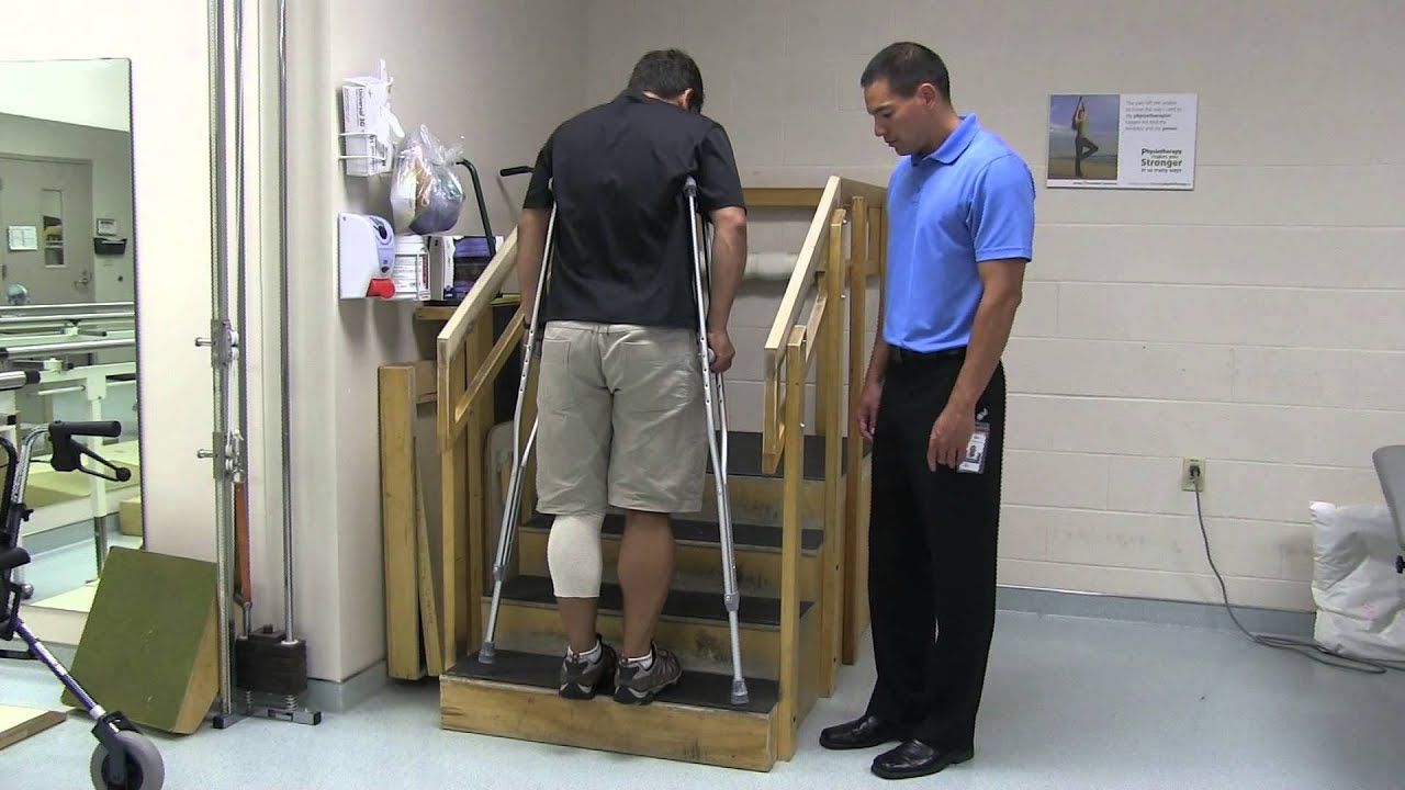 Using Crutches After Hip Knee Or Ankle Surgery Youtube