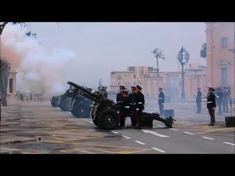 21 Gun Salute in honor of the President of Malta, 4 April 2019