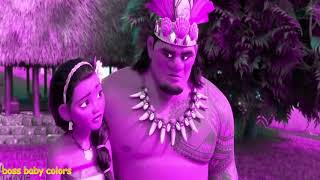 Moana Learning Color movies songs Funny Videos  Learn Colors For Kids 3D #11
