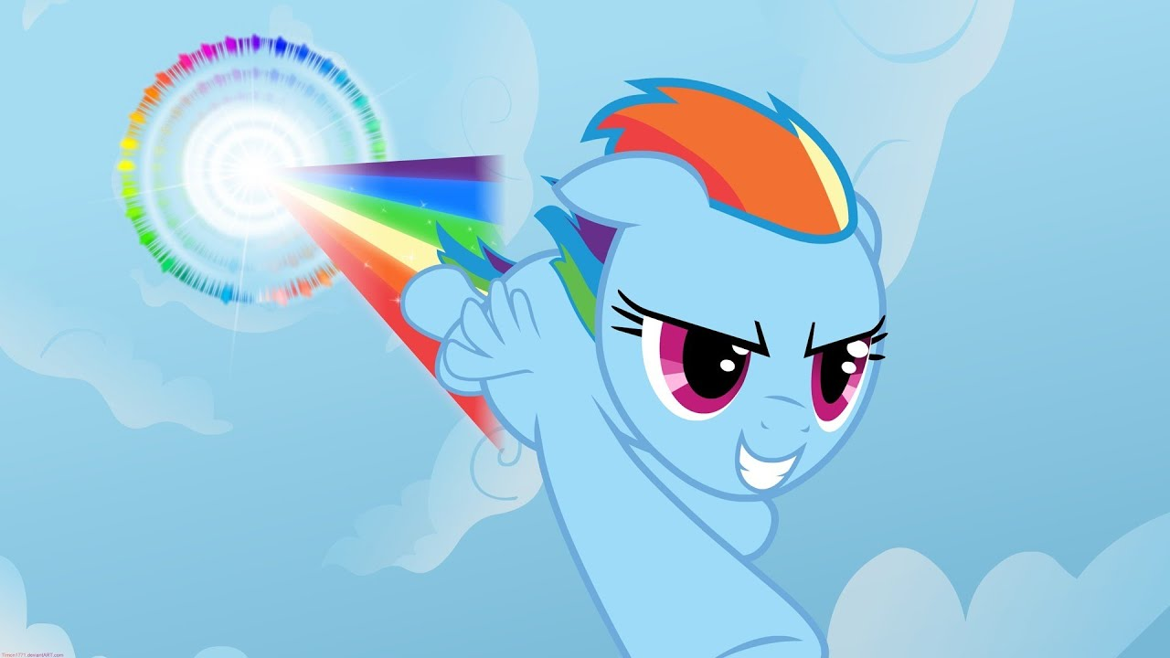 картинки радуга дэш пони