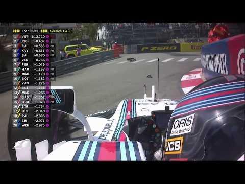Monaco FP2 Lance Stroll Crash [HD]